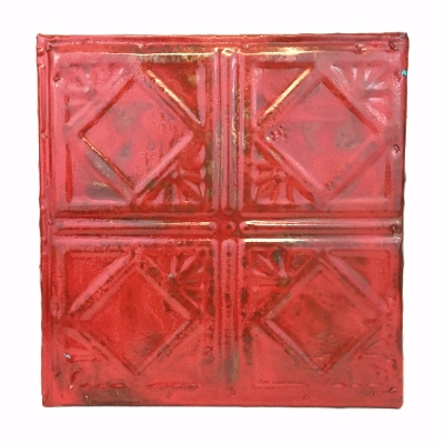 12x12 Tin ceiling tile, ceiling tin, sam cheek, wall hanging