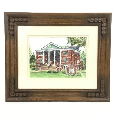 """Pine Hill Baptist Church"" Watercolor Assorted Framed Churches, Pine Hill Baptist, Pencil, Jan, Agee"